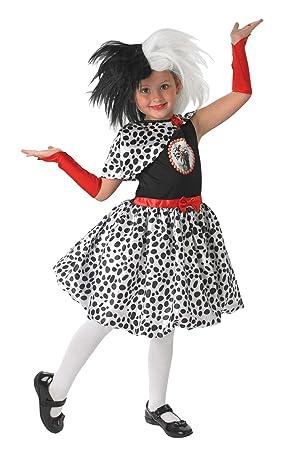 eb6815090 Rubies Disfraz oficial de Disney Cruella de Ville, 101 dálmatas para niños