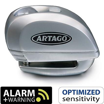Artago 22S.6M Candado antirrobo Moto Disco Alarma 120 db y Warning Inteligente, Metálico, 6