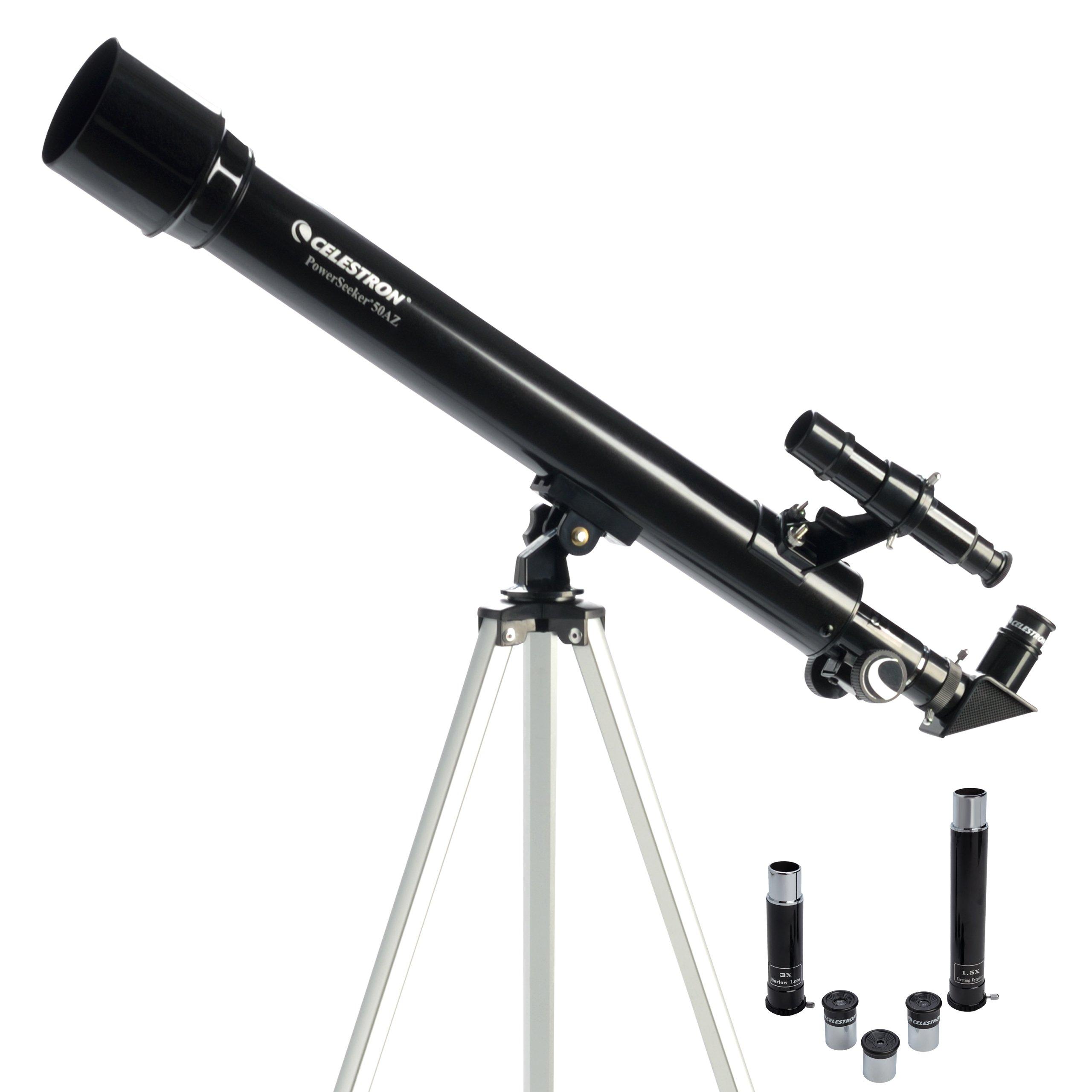 Celestron PowerSeeker 50 AZ Refractor Telescope by Celestron