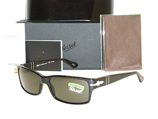 5f585f3e57fac PERSOL 2803 Sunglasses PO2803S 95 58 58mm Black Frame Polarized Natural  Green