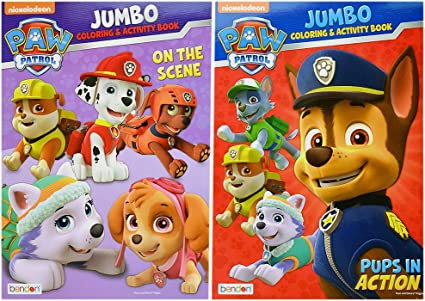 - Amazon.com: Paw Patrol Jumbo Coloring And Activity Book [Set Of 2]: Toys &  Games