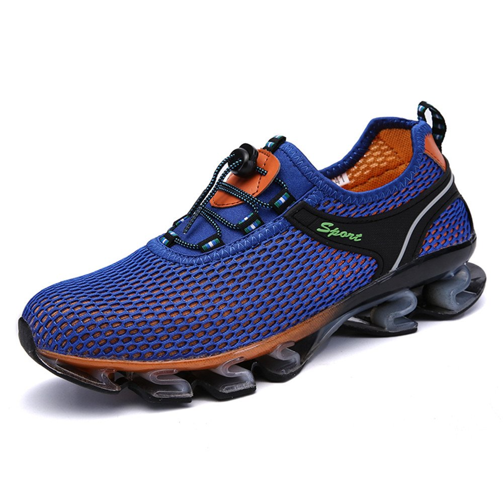 QSLL Mens Water Shoes Breathable Lightweight Beach River Walking Shoe For Fishing Outdoor 10 D(M) US|Blue