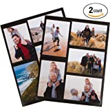 Magnetic Photo Collage Frame for Refrigerator, Set of 2. Best Gift for Birthdays, Mother's Day, Father's Day or for yourself. Each frame holds 5-4x6 inch photos. Won't Slip and Easy to Use.