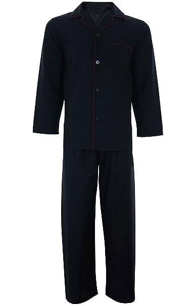 hombre sencillo Polialgodón Conjunto De Pijamas Tradicional Clásico Cortar: Amazon.es: Ropa y accesorios