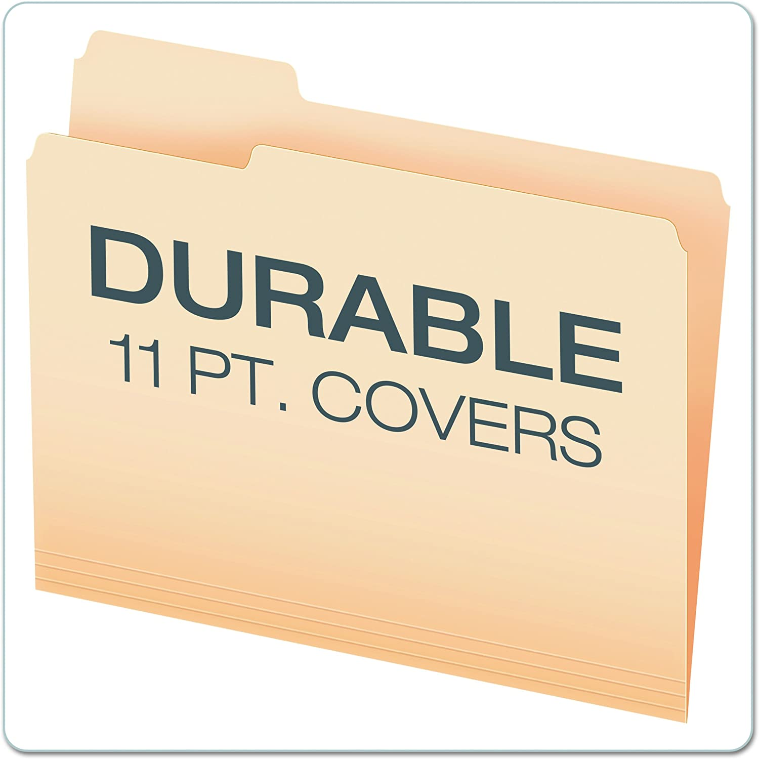 1//3 Tab Cut 30/% Recycled Left Position Manila Letter Size OD752 1//3-1 Pack of 100 Office Depot File Folders
