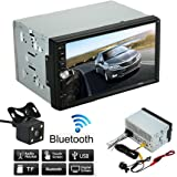 Tongshi Cámara Parking Doble 2 Din Car Stereo MP3 MP5 reproductor de radio Bluetooth USB + AUX