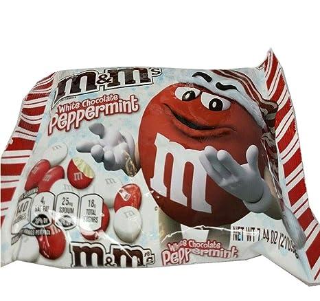 Amazon Com M M S White Chocolate Peppermint Seasonal Limited 7 44oz 210 9g Grocery Gourmet Food