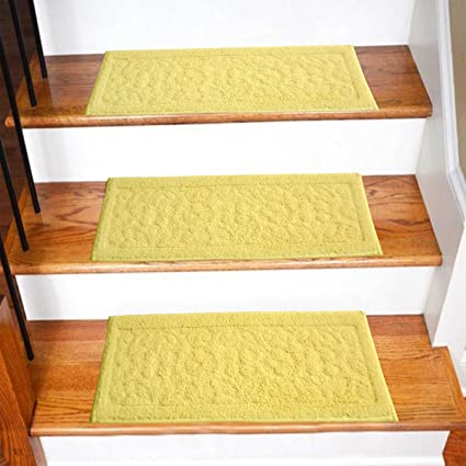 Avioni High Quality Stair/Door Mats With Rubber Backing (set of 3)- Cream Colour