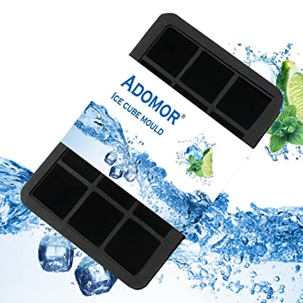 Bandejas para Hielo Silicona,Bandejas Hielo con Tapa,Apilable y flexible-FDA Grado