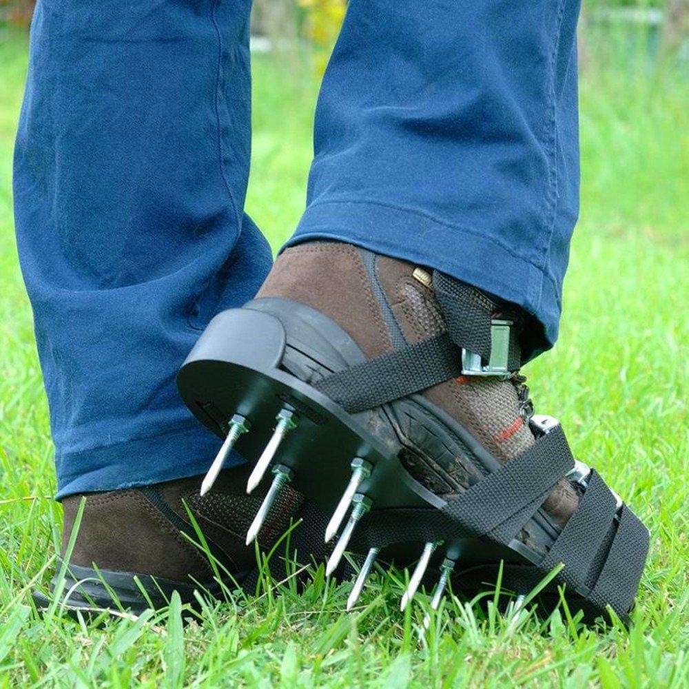 Chaussures da/érodrome de gazon de GKANGU Sandales /à pois de jardin 【Augmentation de 4 sangles】