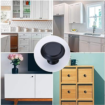 4 x Black Vintage Cabinet Knobs Cupboard Drawer Dresser Bin Pulls Handle DIY