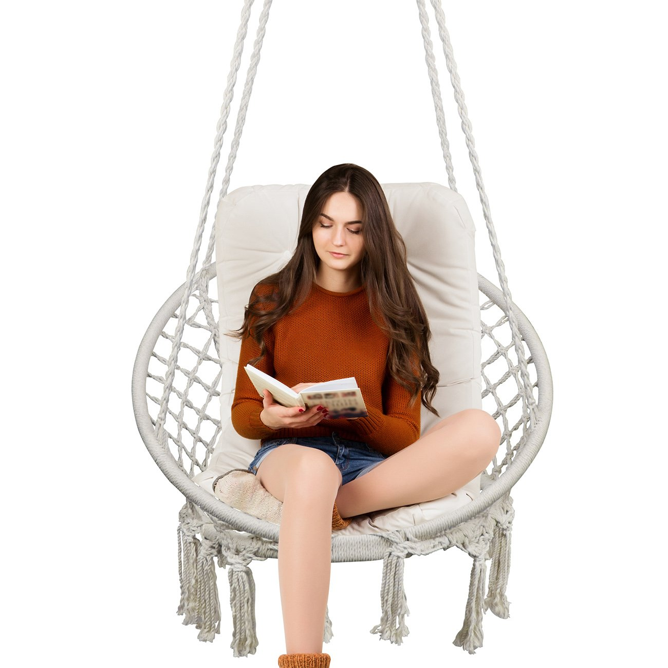 Fabulous Topway Hammock Chair Macrame Swing 330 Pound Capacity Pabps2019 Chair Design Images Pabps2019Com