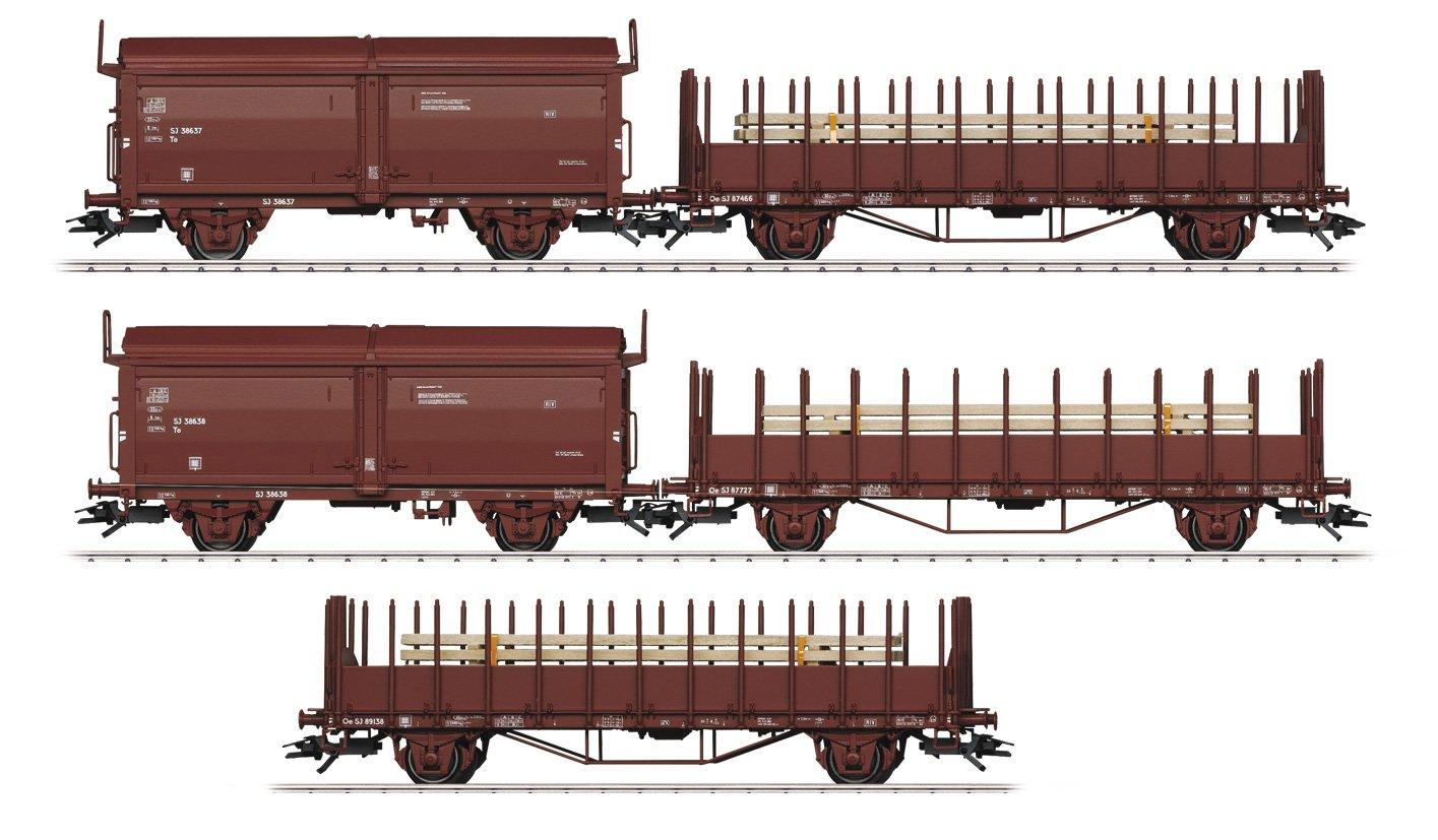 Märklin 047733 - Güterwagen-Set Schwedischen Staatsbahnen