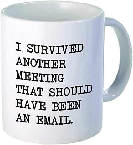 Funny Engraved Keychain I Survived Another Meeting That Should Have Been an Email Coworker Gift