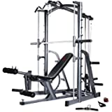 Marcy MWB1282 Platinum Smith Machine Home Gym with Weight Bench - Lifetime Frame Warranty