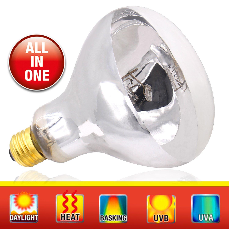 UVA UVB Mercury Vapor Bulb - 100W Sun Simulating Bulb High Intensity UVA UVB Light Heat Bulb Reptile Amphibian Use (Mercury Vapor Bulb)
