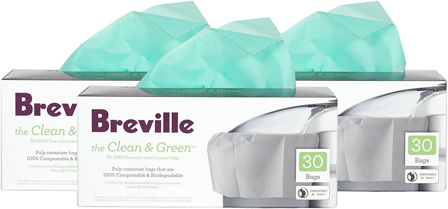 Breville Clean and Green Biodegradable Pulp Container Bag for ...