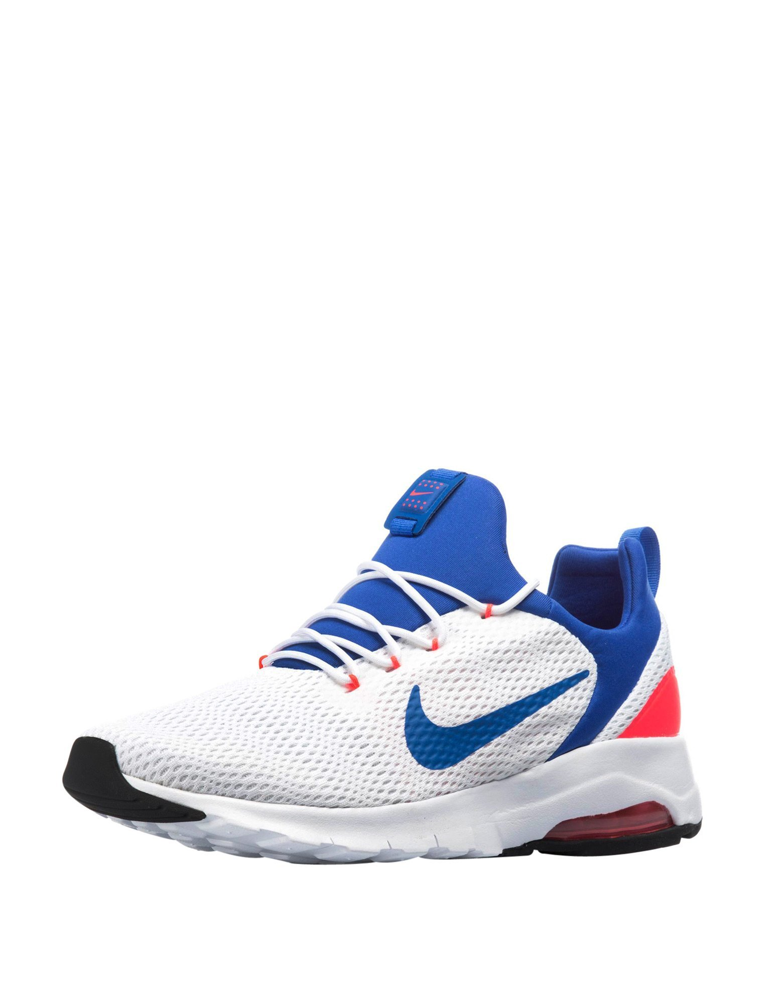 the best attitude c3eb1 73bff NIKE Men s Air Max Motion Racer White-Blue Sneakers