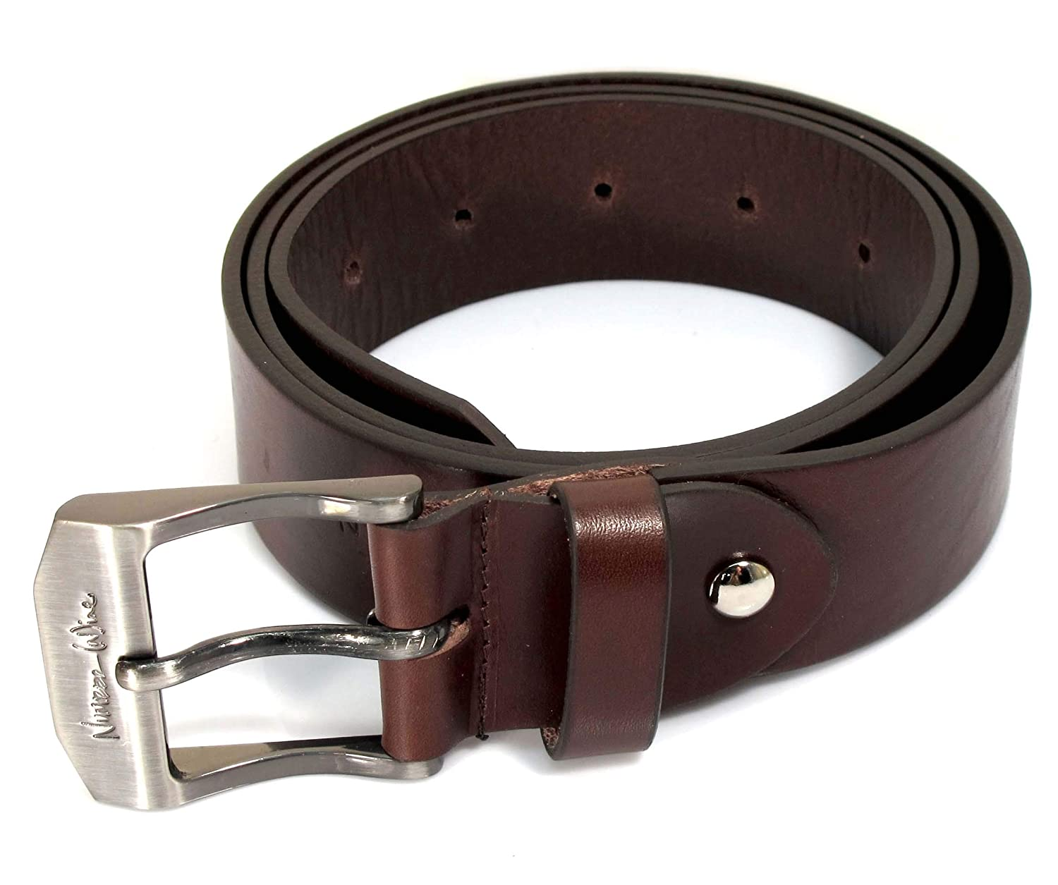 Womens Real Genuine Leather Belt Black Brown White 1.5 Wide S-XL Casual Jeans TW0