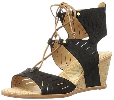 Dolce Vita Saddle Womens Langly Wedge Sandal Saddle Vita Nubuck Size 100 82a487