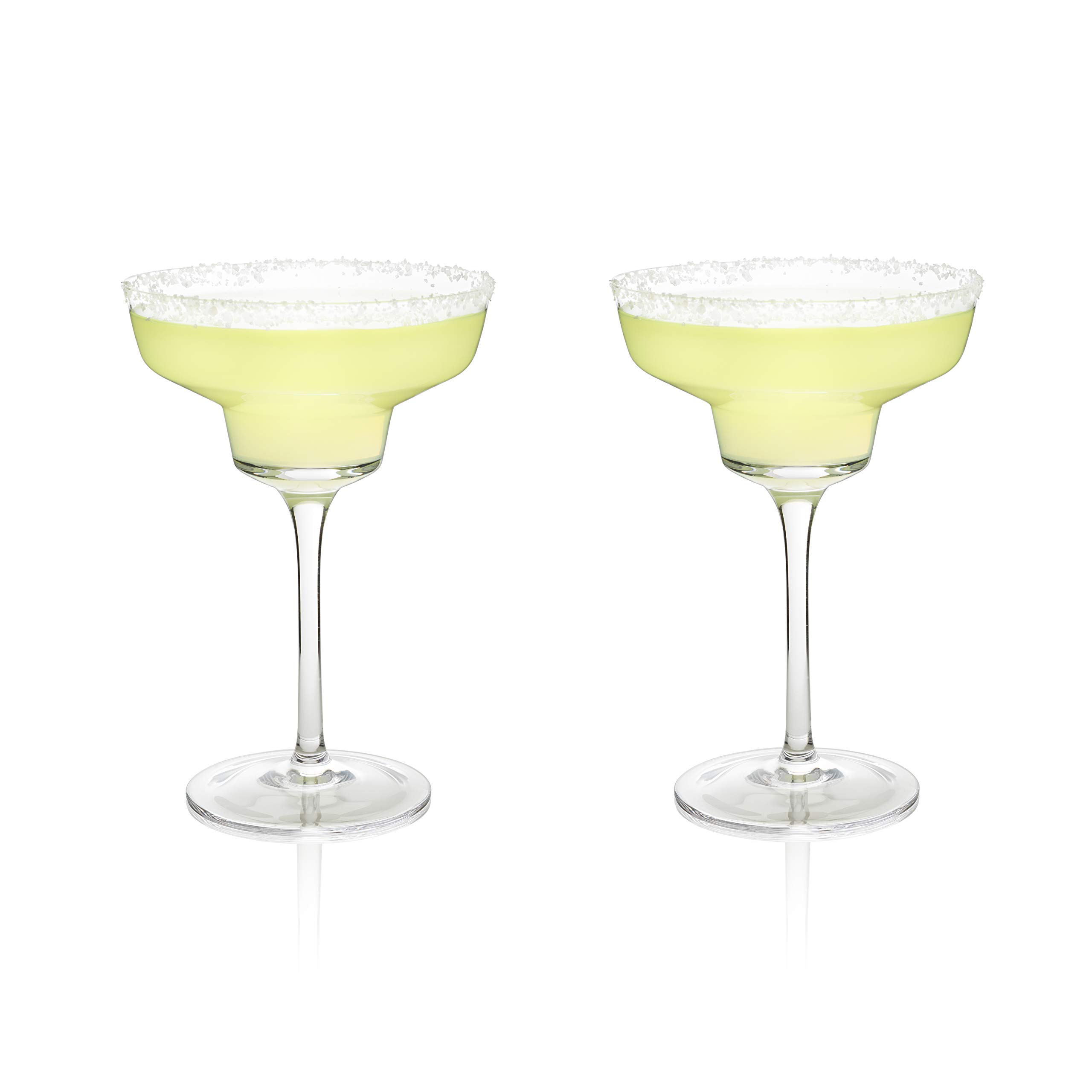Viski 5253 Raye Crystal, One Size, Margarita Glasses