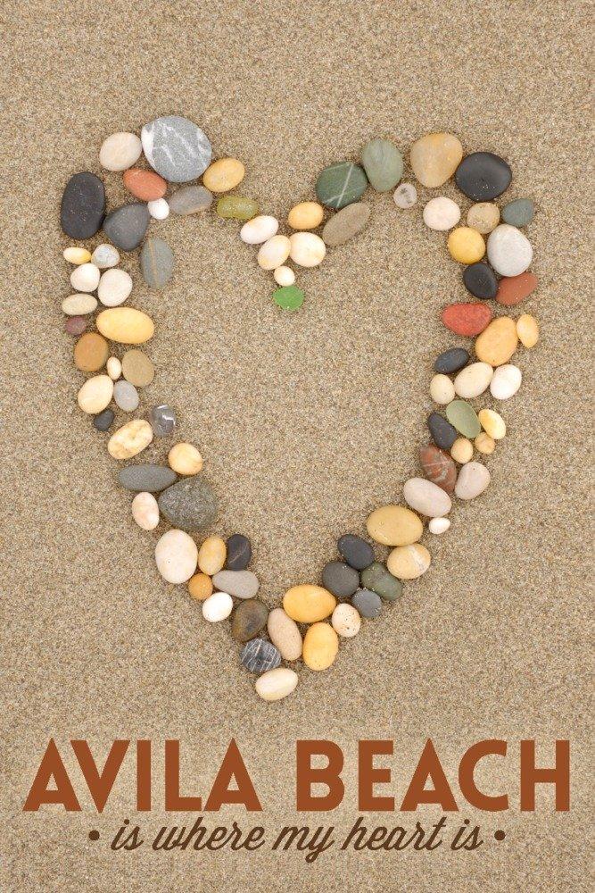 テレジアビーチ、カリフォルニア – The Beach Is Where My Heart Is 16 x 24 Giclee Print LANT-79130-16x24 B06VXJL87L  16 x 24 Giclee Print