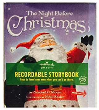 Amazon.com : Hallmark The Night Before Christmas Recordable ...