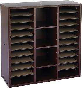 Safco Products Apres Modular Storage Literature Organizer, Mahogany