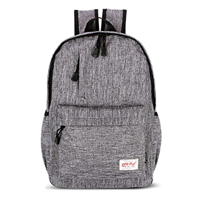 Datomarry Simple Gray 16 Inch Outdoor Travel Backpack for Mens Boys | Kids' Backpacks