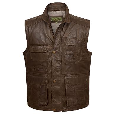 4f83309f1c5 Dan   Gilet sans manches en cuir  Amazon.fr  Vêtements et accessoires