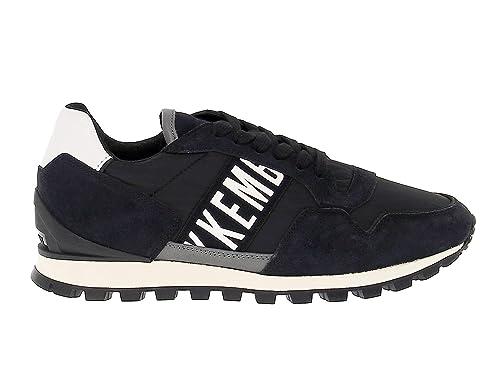 Bikkembergs Hombre BKE109096 Negro Cuero Zapatos: Amazon.es: Zapatos y complementos