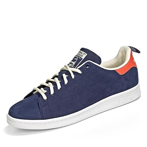 9733ab14d adidas Stan Smith MS, Zapatillas Unisex, Azul marino / Naranja / Blanco, 39  1/3: Amazon.es: Deportes y aire libre
