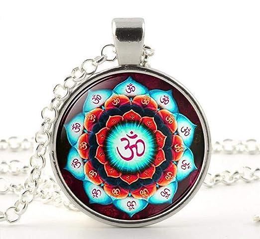 Collar Om, Collar Lotus Om Símbolo, Collar Namaste, Colgante ...