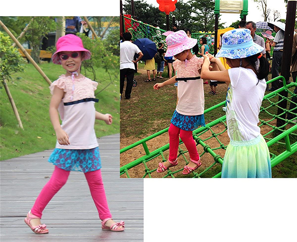 Qhome Kids Outdoor Sun Protection Hat Wide Brim Bucket Hats UV Protection boonie Hat 52-54cm