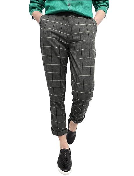 Amazon.com: uxcell - Pantalones de lana para hombre, diseño ...