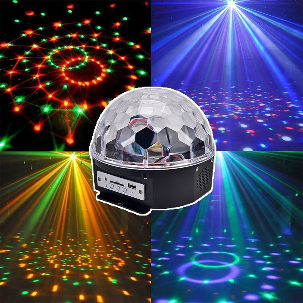 Stage luci a LED da discoteca/DJ, Reflection Proiettore luci Decorative, ideali per le feste di Natale, Magic RGB Crystal Ball BlueSpider