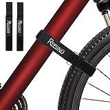【Upgraded-29''】Bike Rack Straps, 2 Pack Bike Wheel Straps, Double-Layer Durable Stainless Steel Hook & Loop Storage…
