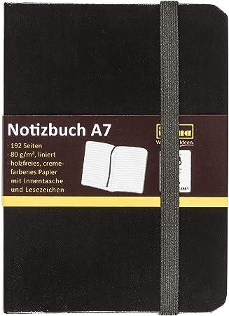Idena Notizbuch FSC-Mix A7 liniert schwarz