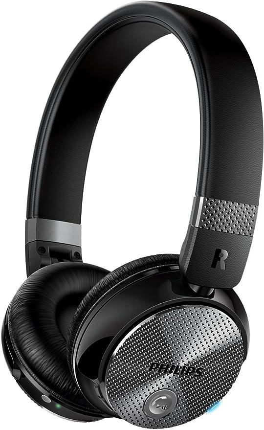 Philips SHB8850NC/00 - Auriculares inalámbricos con reducción de ruido (cerrado parte posterior, almohadillas suaves, plegado compacto), negro: Amazon.es: Electrónica