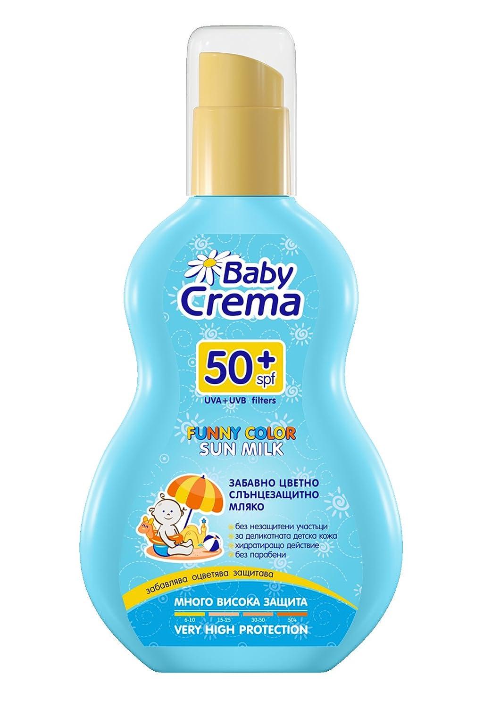 Baby Crema Leche protectora solar infantil Color divertido SPF 50+ Pulverizador 150 ml Agiva