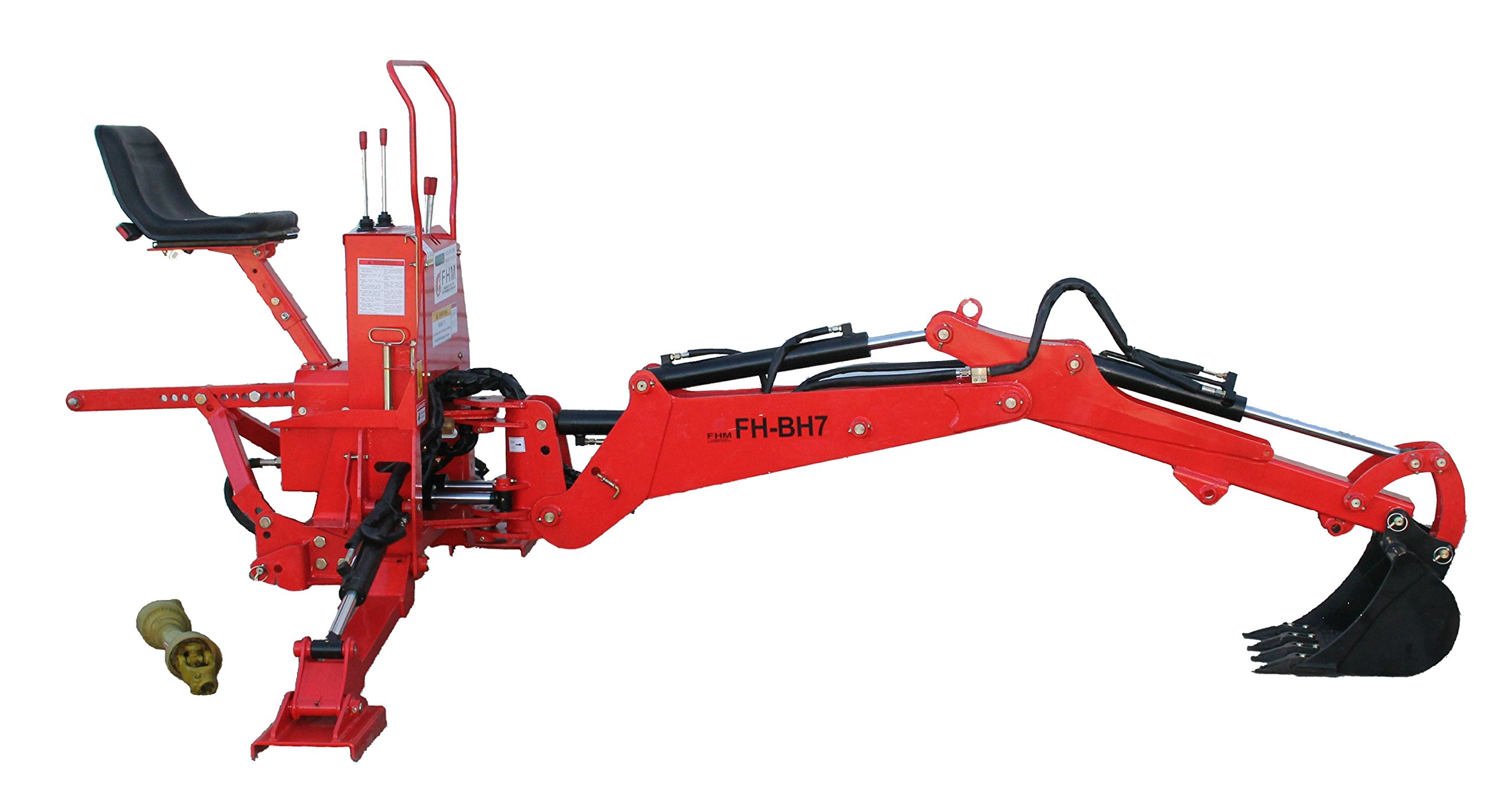 Farmer Helper Tractor Backhoe, 7'Dig 3-Pt Self Contained, PTO Powered Cat.I 30Hp+ (FH-BH7)
