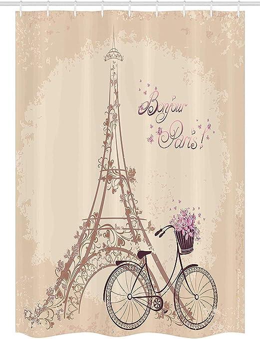 Cortina de Ducha Paris Stall by Yeuss, Torre Eiffel Bonjour y ...