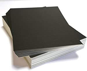 topseller100, Pack of 50 sheets 8x10 UNCUT matboard / mat boards (Black)