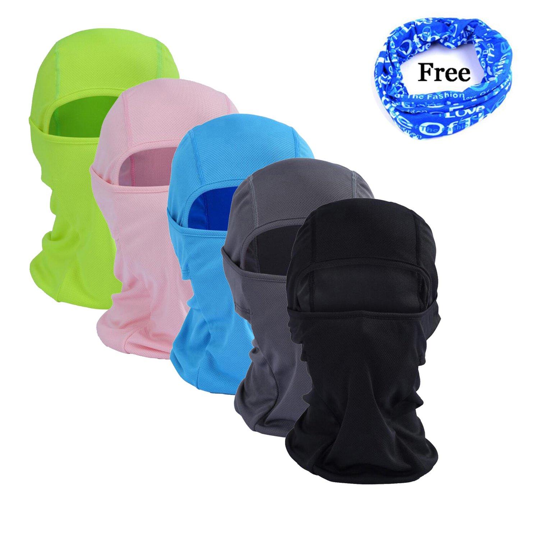 Gofriend Mehrzweck-Sturmhaube Maske Outdoor Sport Maske fü r Damen & Herren - Ideal fü r Motorrad, Ski, Radfahren, Laufen, Camping, Wandern - Sommer oder Winter, nahtlose Halbgesichts-Maske schwarz