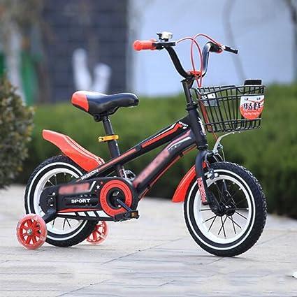 Bicicletas Duo Estilo Libre para niños, niños niñas con Ruedas de Entrenamiento, 12 Pulgadas