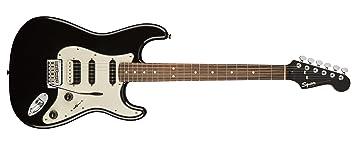 Squier por Fender Stratocaster Guitarra eléctrica contemporánea – HSS – Diapasón de Palisandro), color