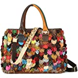 On Clearance Luxury Multicolor Tote Flower Big Shoulder Bag Floral Colorblock Handbag Patchwork Purse-Sibalasi