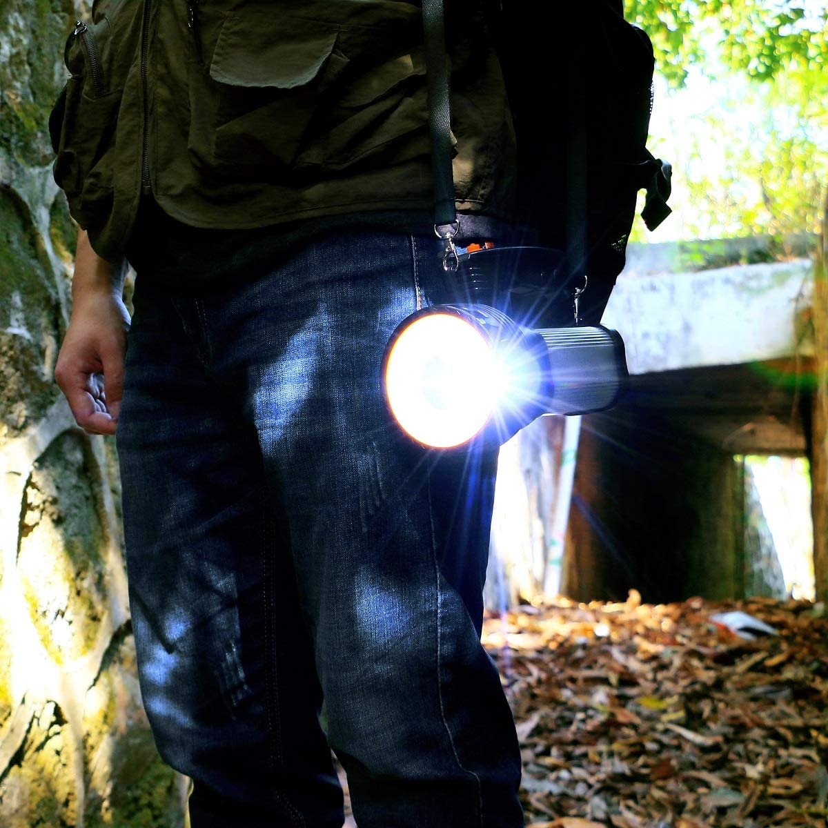 CSNDICE LED Wiederaufladbare Handheld Scheinwerfer Hochleistungs Super Bright 9000 MA 6000 LUMENS CREE Taktische Scheinwerfer Fackel Laterne Taschenlampe