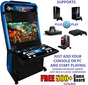 Arcooda Xtreme Game Wizard (Blue) Arcade Machine + 2* Arcade Stool Chrome with Swivel Seat free + Bonus 508 Games Combo Board Free