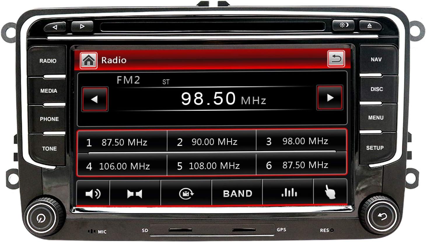 Nvgotev 7 Zoll Stereo Autoradio Für Vw Golf Passat Skoda Jetta Tiguan Sitz Mit Wince System Elektronik